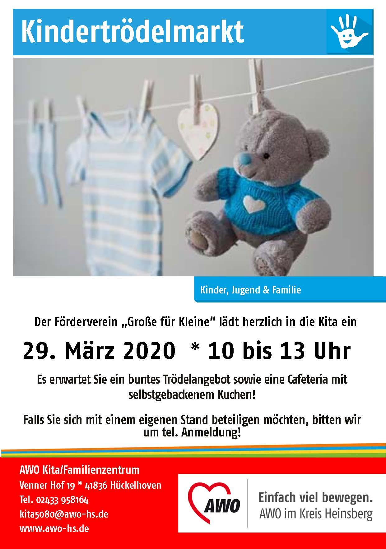 Kindertrödelmarkt in der AWO Kita/Familienzentrum   Ratheim wird abgesagt 1