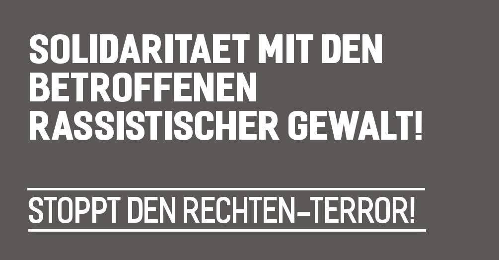 Demo: Solidarität mit den Betroffenen! Stoppt den rechten Terror! 1