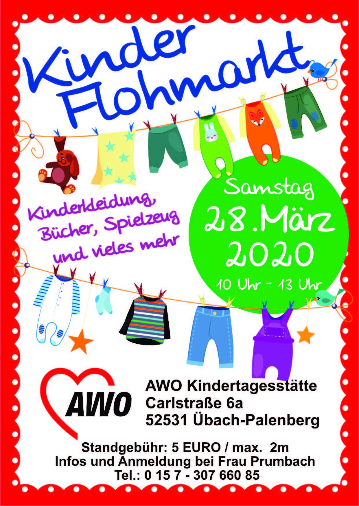 Kinderflohmarkt  in der AWO Kita Übach-Palenberg Mitte (Carlstraße) wird abgesagt 1