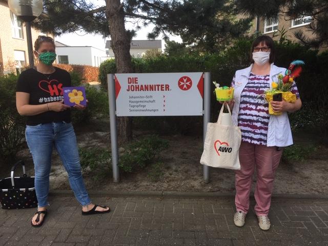 AWO-Kita Wassenberg grüßt die Bewohner und Mitarbeiter vom  Johanniter-Seniorenstift Wassenberg 1