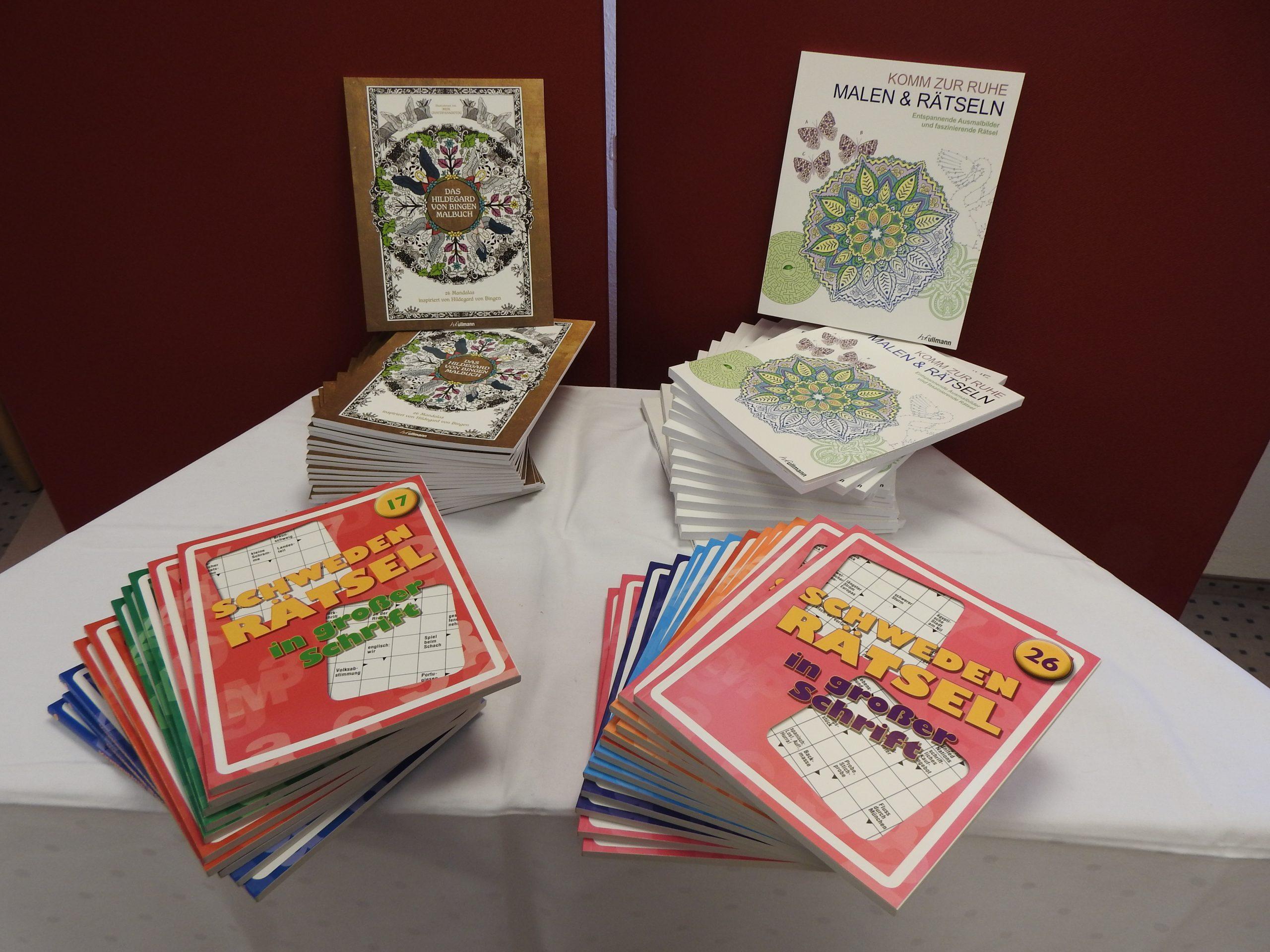 Rätselhefte und Malbücher für das AWO-Altenzentrum Heinsberg 1