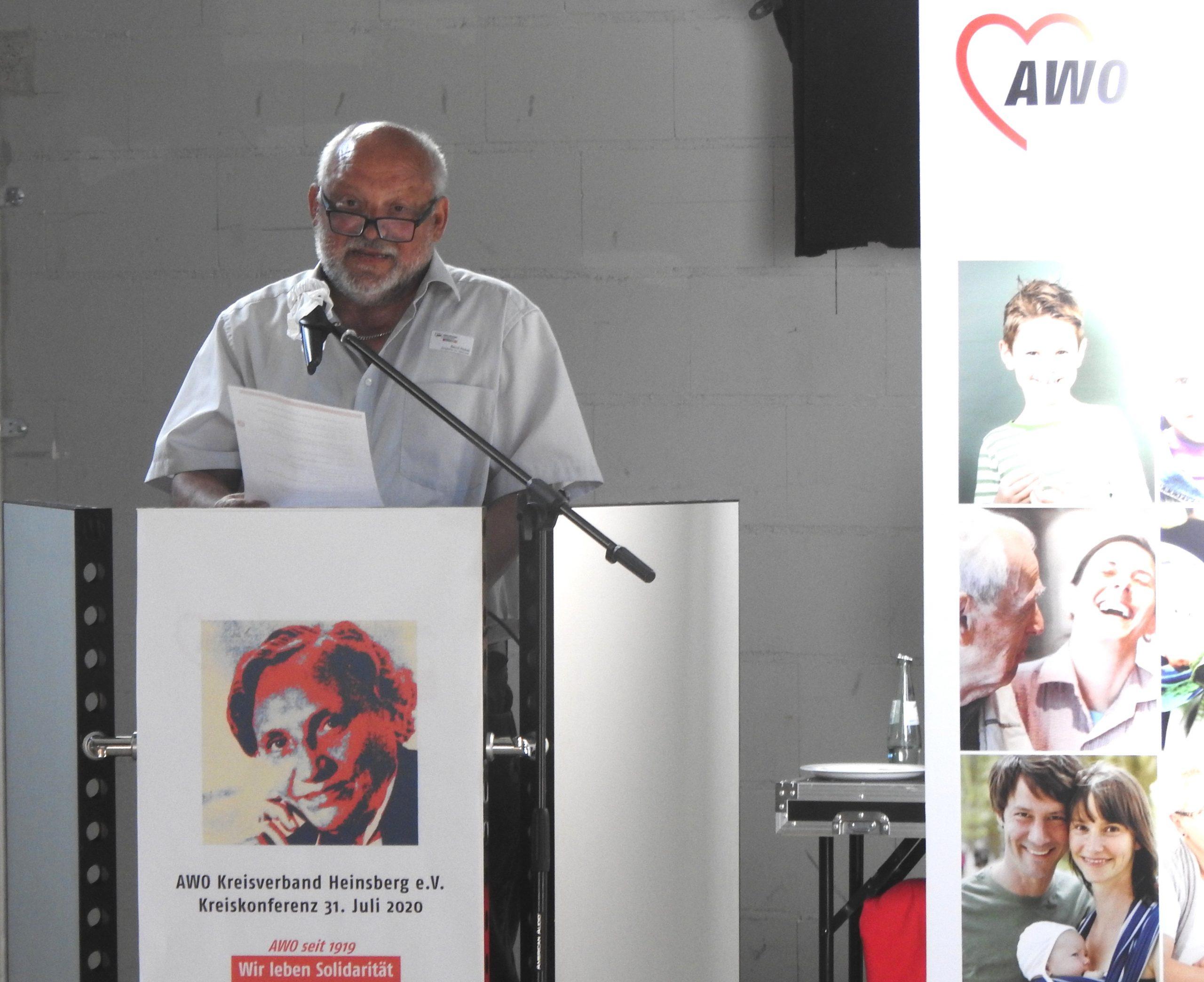Wir leben Solidarität – bei der Kreiskonferenz der AWO im Kreis Heinsberg wird Bernd Reibel als Vorsitzender bestätigt 1