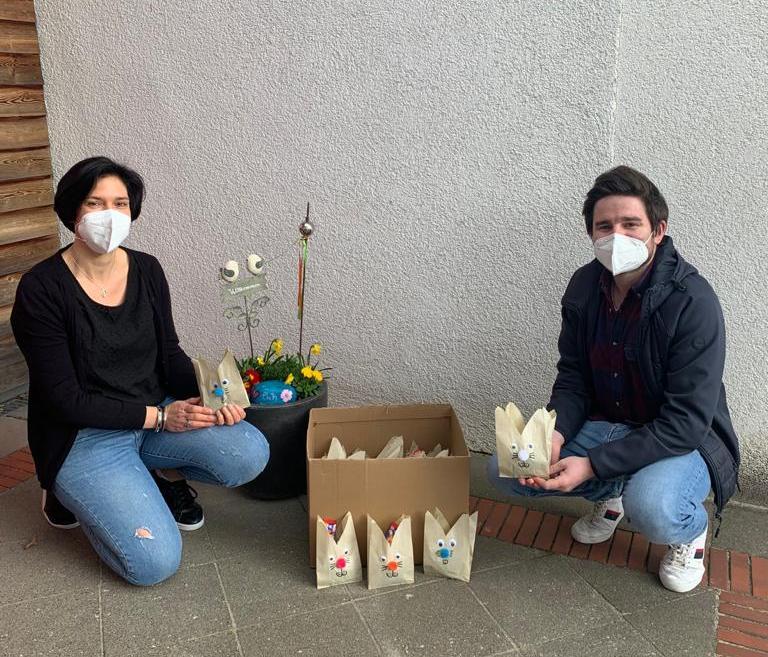 Kita-Kunst erfreut die Bewohner*innen des AWO-Altenzentrums Heinsberg 7