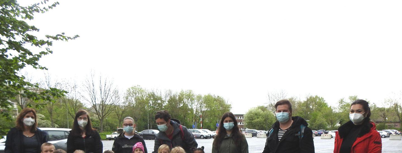 Kindergartenkinder der AWO-Einrichtung in Geilenkirchen im Einsatz für eine saubere Stadt 1