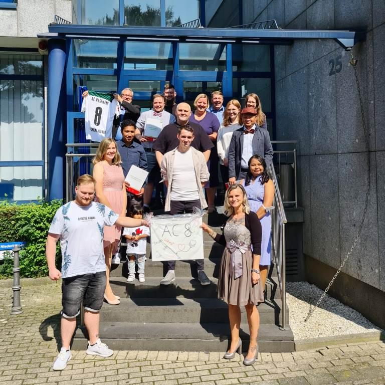 Examensfeier der Pflegeschüler*innen am IPS-Standort Aachen 1